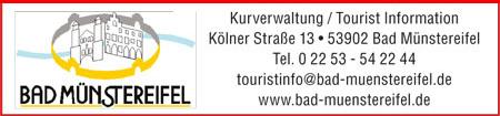 Anzeige Tourist Info Bad Münstereifel