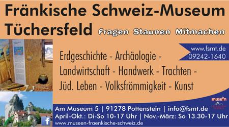 Anzeige Fränkische Schweiz-Museum Tüchersfeld