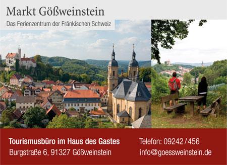 Anzeige Touristinformation Gößweinstein