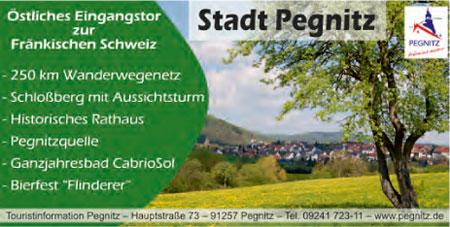 Anzeige Tourist-Info Pegnitz