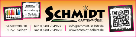 Anzeige Schmidt Gartenmöbel