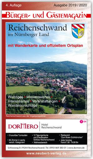 Titelbild Bürger- und Gästemagazin Reichenschwand Ausgabe 2019 / 2020