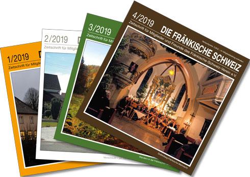 Einige Titel aus dem Verlagsprogramm: Broschüre Fränkische Schweiz