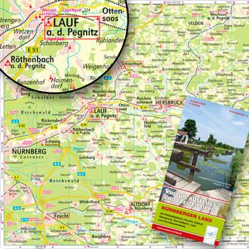 Kartografie, Stadtpläne und Landkarten: Landkreiskarte Nürnberger Land