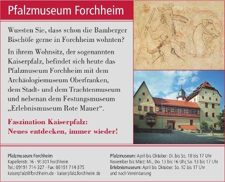 Anzeige Pfalzmuseum Forchheim