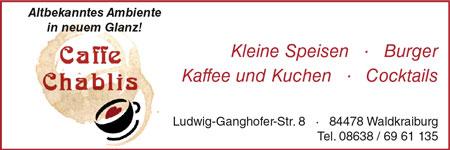 Anzeige Cafe Chablis