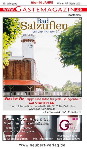 Titel Gästemagazin Bad Salzuflen Sommer/Herbst 2020