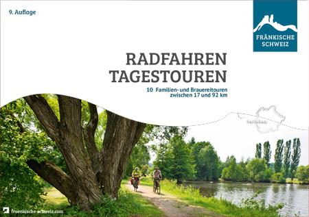 """Titel der Broschüre """"Radfahren Tagestouren"""" Fränkische Schweiz, 9. Auflage 2021"""