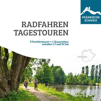 Titel der Radwanderbroschüre RADFAHREN TAGESTOUREN in der Fränkischen Schweiz
